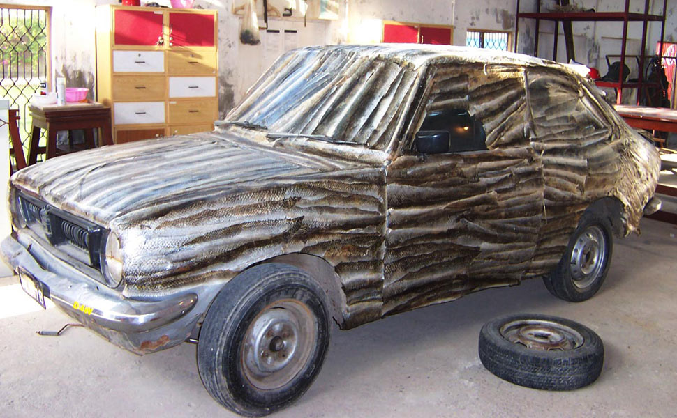 Shredded-skin-fish-car-work-in-progress
